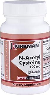 Kirkman N-Acetyl Cysteine100 mg - Hypoallergenic || NAC || 100 Vegetarian Capsules || Gluten and Casein Free || Antioxidan...
