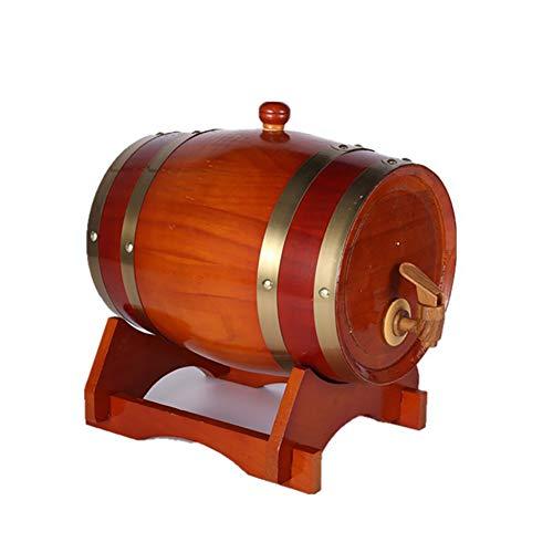 30 Liter Holzfass Eichenfass Weinfass Whiskyfass Liqueur Schnapsfass, Holz Weinfass Spender Anzug für Zuhause, Bar, Party und Bankett,B