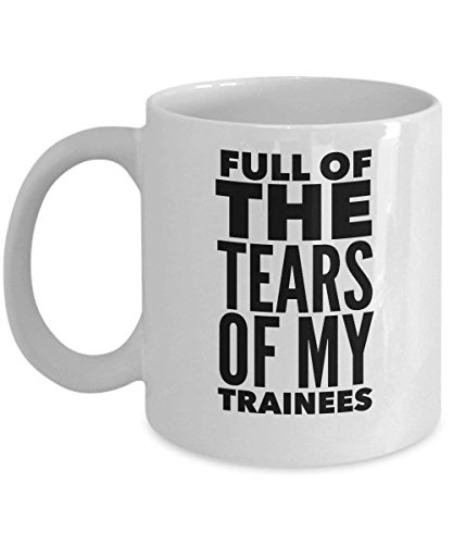 Air Traffic Controller Mug - Full of The Tears of My Trainees - Plane Lover Gifts - 11oz White Ceramic Coffee Cup