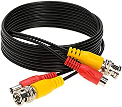 10FT Black Premade BNC Video Power Cable/Wire for Security Camera, CCTV, DVR, Surveillance System, Plug & Play (Black, 10)