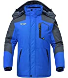 Rdruko Men's Winter Snow Jacket Coat Waterproof Windproof Insulated Ski Snowboard Fleece Jacket
