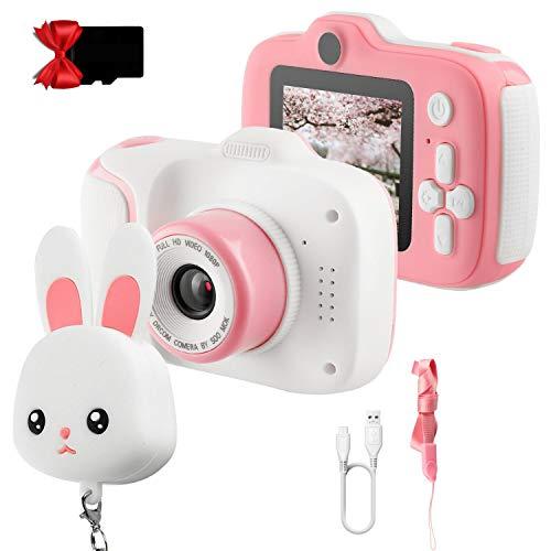 ETPARK Kinderkamera, Digital Kinder Kamera Vorne und Hinten Fotoapparat Kinder Selfie und Videokamera 2 Zoll HD-Bildschirm 1080P 32 GB SD-Karte Kleinkind Kamera für 3-12 Jahre Mädchen Geschenke