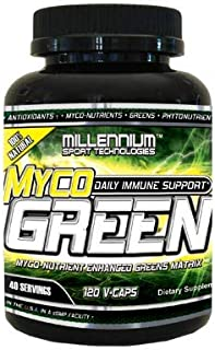 Millennium Sport Technologies, MycoGreen 100% Organic Greens, Sea Vegetables, Tested Gluten Free, 120 Veggie Capsules