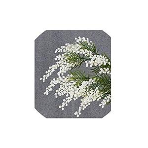 Magic Day 5 Pcs Australia Acacia Yellow Mimosa Spray Silk Flower Artificial Flower Wedding Flower Party Event Decor