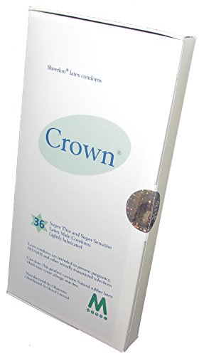 Crown Skinless Skin Condoms - The Thinnest Latex Condoms (Box of 36 pieces) /Fulfilled by Seller/ by Okamoto