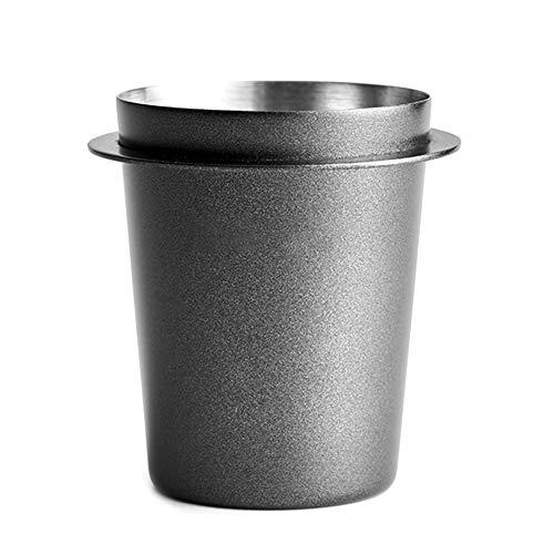 Yokawe Vaso dosificador de café – 58 mm de acero inoxidable, recipiente de entrada de polvo para...