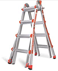 Adjustable ladder for painting stairs
