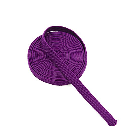 YJ COOL Synthetic Silk Ito Sageo Wrapping Cord for Japanese Samurai Swords Handle Saya - Purple