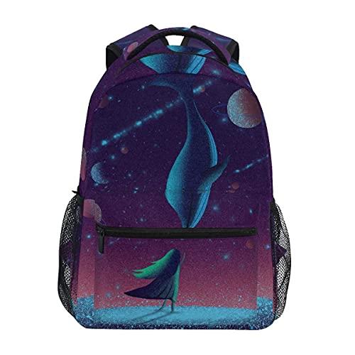 HAFEIFEI Mochilas tipo casual Tiburón Delfín Estrella De E