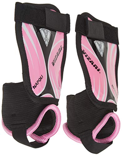 Vizari Napoli Shin Guard, Pink/Black, Peewee