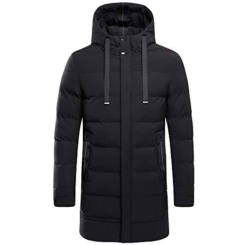 AIMEE7 Homme Doudoune Longue à Capuche Grande Taille Veste Manteau de Long Blouson Hiver Chaude Parka Outdoor Coupe-Vent Vêtements Hommes(Noir)