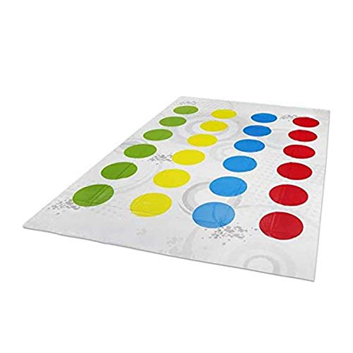 Dacyflower Twister Game, tapete de juego de fiesta clásico con manchas de colores Juego de mesa para 2 o más jugadores Juego de tren de flexibilidad interior y exterior para niños de 6 años en custody