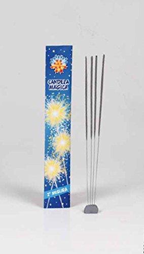 BORGONUOVO  Candeline 2° misura scintille bastoncino luminoso pirotecnico stelline festa quantità a scelta (250 pezzi)