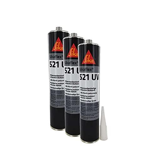 Colla sigillante ibrida UV Sikaflex 521 SIKA - Nero - 300ml - Venduto da 3