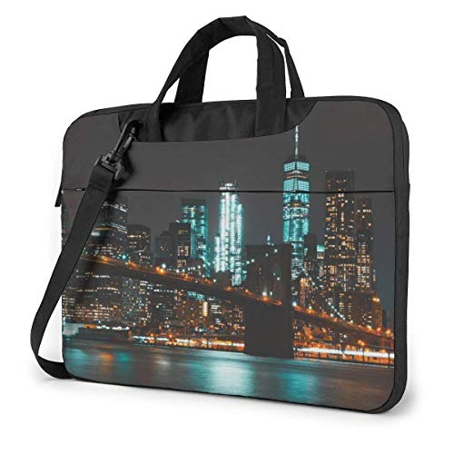 Laptop Case Computer Bag Sleeve Cover New York City Waterproof Shoulder Briefcase 13 14 15.6 Inch