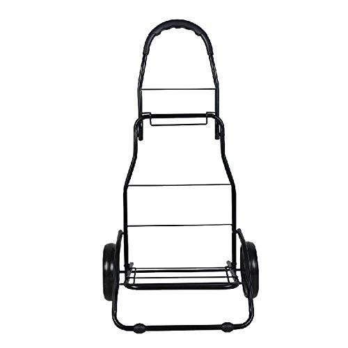 XYLUCKY Trolley Dolly, 150 lbs Capacity Shopping Grocery Carrito Plegable Carrito Utilitario...