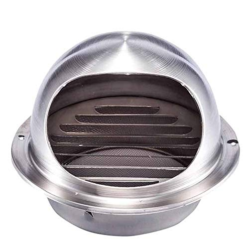 New LTLSF Wall-Mountable Round Bull-Nose Vent, Thick Stainless Steel Rain Cap Vent Cowl Wall Air Ven...