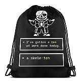 Undertale Sans Skeleton - Bolsa de gimnasio con camiseta Undertale con cordón