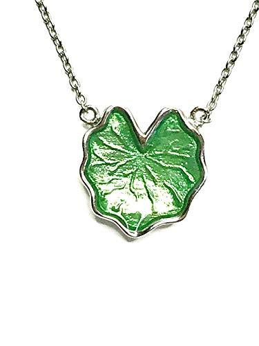 Gemolithos Lily Pad Silver & Green Enamel Pendant
