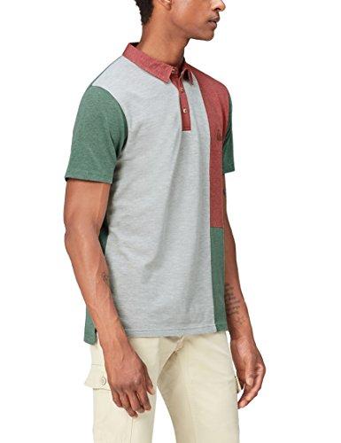 Marca Amazon - find. Polo con Paneles de Color para Hombre, Multicolor (Neutral), M, Label: M