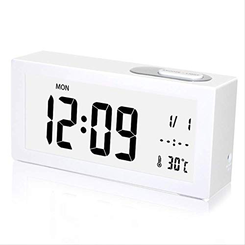 LUCYYY Despertador Despertador electrónico Mudo Noche luz Cama Hora Dormitorio Infantil