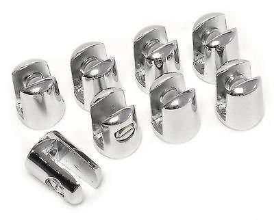 PACK OF 8 Small supports for glass SHELF 4-6mm thick - CHROME plated