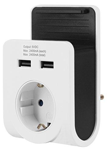 GAO EMP601USB Dual- USB-Ladegerät mit Netzsteckdose