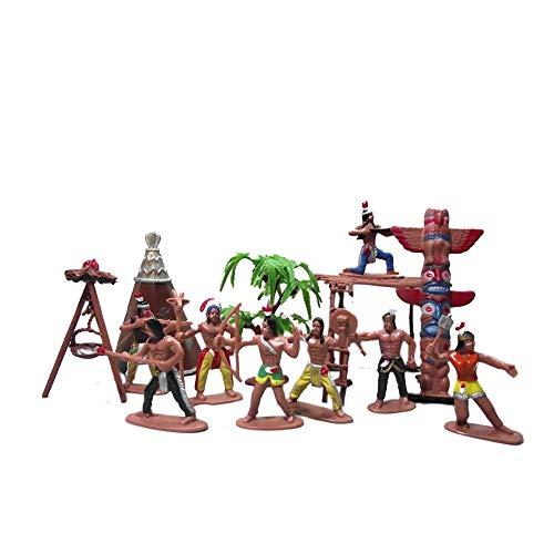 13 Pcs Indians Figurine Plastic Indians Action Figure for Decoration