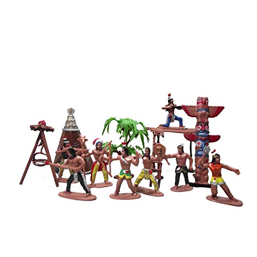 13 Pcs Indians Figurine Plastic Indians Action Figure for Decoration
