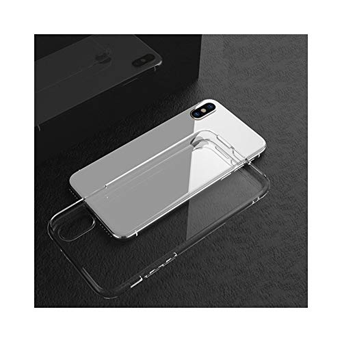 Hexiaoyi Funda de TPU Suave de Silicona Transparente for iPhone X XS XR 8 7 6 Plus Funda de teléfono Protectora de TPU súper Suave y Ultrafina (Color : Clear, Size : For iPhone 7)