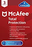 McAfee Total Protection 2021, 3 Dispositivi, 1 Anno, Software Antivirus, Sicurezza Internet, Gestore delle...