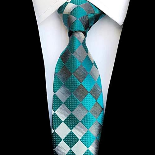 XCLWL Krawatte Mode Karierte Krawatte Jacquard gewebt Hochzeit Krawatte für Männer gestreiften Farbverlauf blau rot grün Krawatte Anzug Party