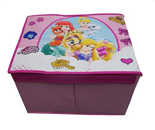 takestop® opvouwbare doos prinses Disney Cinderella Ariel Rapunzel 40 x 30 x 25 cm houder deksel Puff Design camera decoratie voor speelgoed