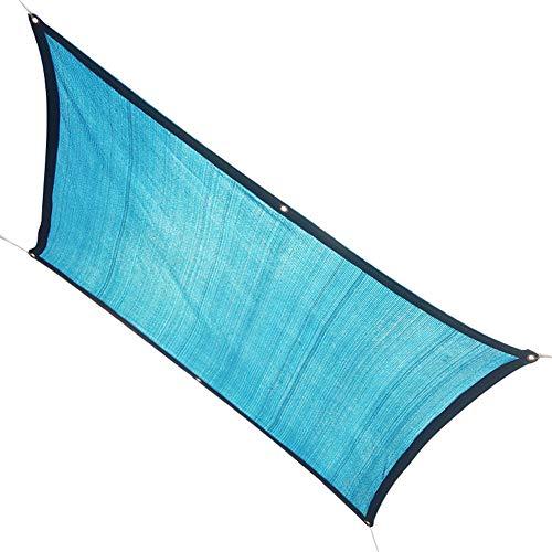 SSRS Sol del Acoplamiento jardín de Sombra de Tela aislar el Calor Anti-UV Sombra Fuerte de Peso Ligero de poliéster, 18 Tamaños portátil, Duradero (Color : Blue, Size : 3X4M)
