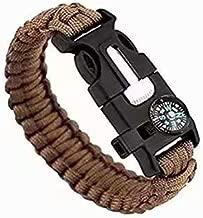 15 en 1 Silbato con Hebilla Cuerda de Rescate de Supervivencia Pulsera de Viaje Cuerda de Rescate Silbato de paraca/ídas Abilieauty