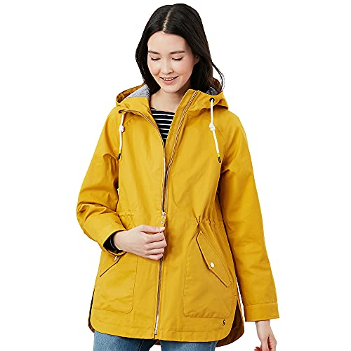 Joules Women's Shoreside Rain Jacket, Antique Gold, 22