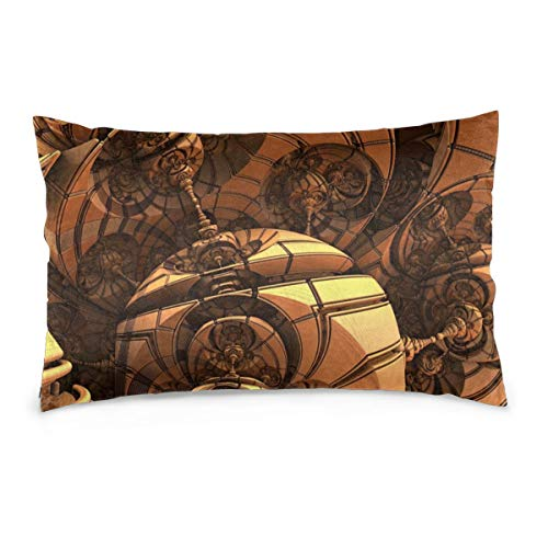 XIEXING Pillow Case Space Printed Pillow Cases Soft Chair Seat Bedding Pillowcase Coffee Shop Home Decor 14'' X20