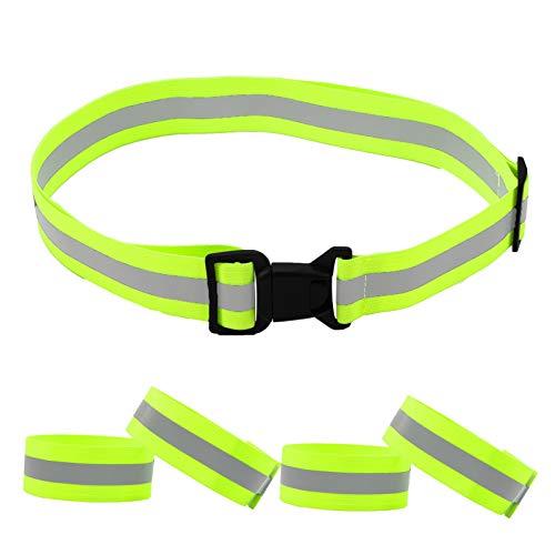 Girls'love talk Reflective Belt, High Visibility Safety Belt with 4...