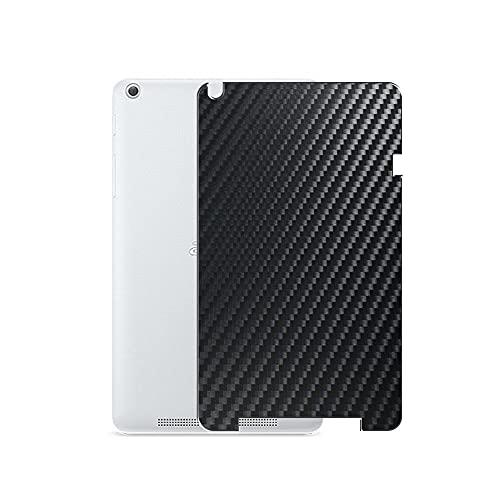 VacFun 2 Piezas Protector de pantalla Posterior, compatible con ACER B1-830 iconia one 8 8', Película de Trasera de Fibra de carbono negra Skin Piel