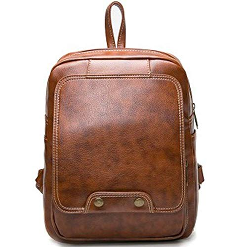 NDY Rucksackfreizeitbeutel-Reisetaschenhandtasche Retro- Multifunktionsart und weise des weichen Leders 2 färbt wahlweise freigestellt,Brown