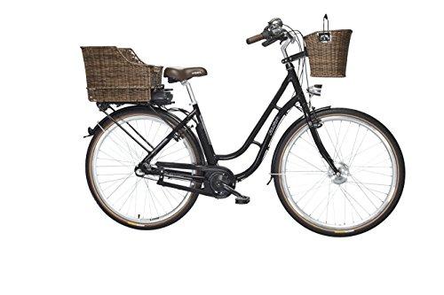 FISCHER E-Bike RETRO ER 1704, Vorderradmotor 36 V/317 Wh und LED-Display, Rücktrittbremse - schwarz