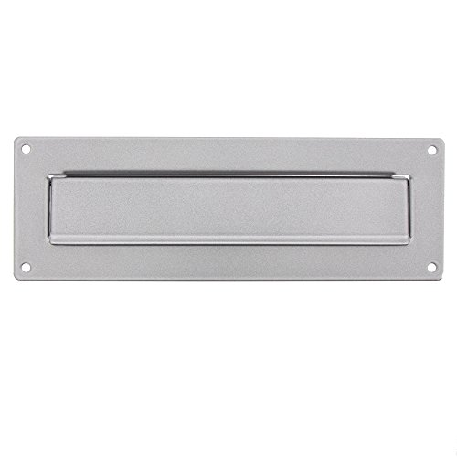 Burg-Wächter Außen-Einwurfblende, Aluminium/Verzinktes Stahlblech, Porta 796 Si, Silber