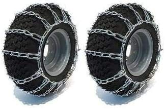 Raisman Pack of Two 20x8.00-8 Zinc Plated Tire Chains (2 Link)