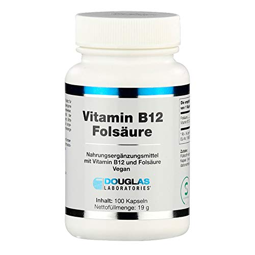 Douglas Laboratories - Vitamin B12 / Folsäure - Nahrungsergänzungsmittel mit Vitamin B12 und Folsäure - 100 Kapseln