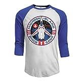 Ym8DD Robotech Macross Logo Raglan Sleeves Baseball T Shirts Top O-Neck Tees Tops for Men's Blue