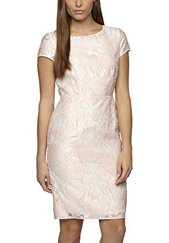 APART Fashion Damen Etui Kleid 52131, Knielang, Einfarbig, Gr. 36, Rosa (pfirsich-eierschale)