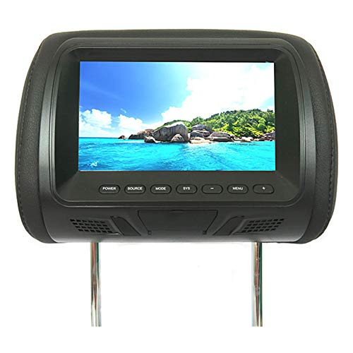 HshDUti Monitor per Auto con poggiatesta HD 720P, Lettore Dvd, Monitor per poggiatesta retroilluminato a LED per Giochi Automatici digitali HD Black