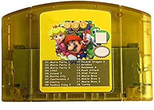 BrotheWiz Nintendo N64 Games Game Cartridge - US 18 In 1 Game Card For Nintendo N64 Mario Party 1 2 3 Aggregation 15 NES E...