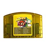 BrotheWiz Nintendo N64 Games Game Cartridge - US 18 In 1 Game Card For Nintendo N64 Mario Party 1 2 3 Aggregation 15 NES Edition Support Game Saves Game Memory Card