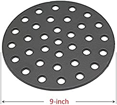 BBQ funland Cast Iron High Heat Charcoal Fire Grate for Large and Minimax Big Green Egg Grill, 9-inch